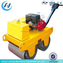 LHH Hdraulic walk behind mini single double drum compactor road pedestrian vibratory roller