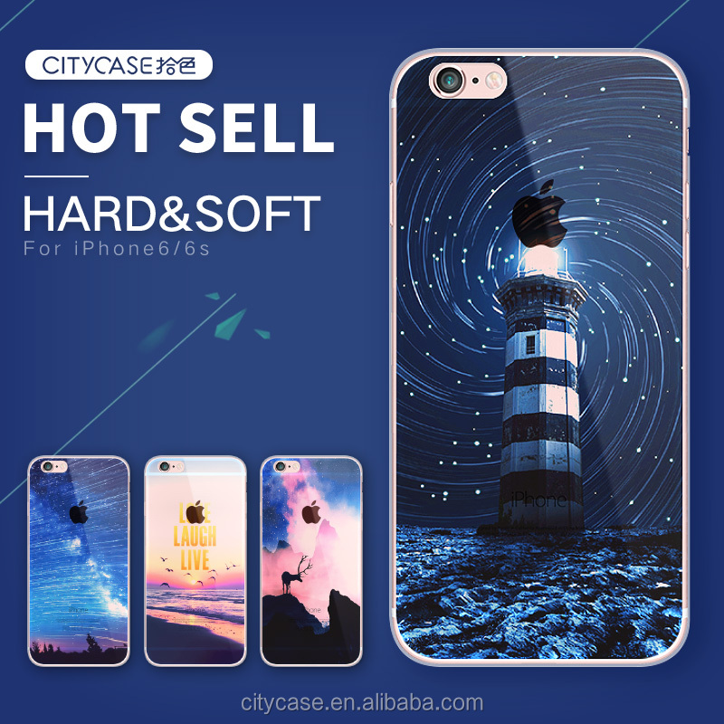 City&case Beautiful view mobile phone <strong>accessories</strong> for iPhone 6 ,clear tpu phone case for iPhone 6s