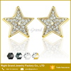 Silver Gold Plated Multi Crystal Star Ear Studs