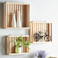 Multi-functional Wooden Storage Tray to be wall Mounted Rack