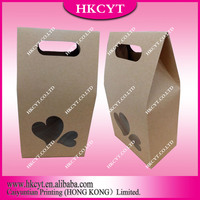 Kraft Stand Up Paper Boxes With Special Window