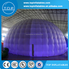 Party used inflatable white dome tent with led lighting for sale