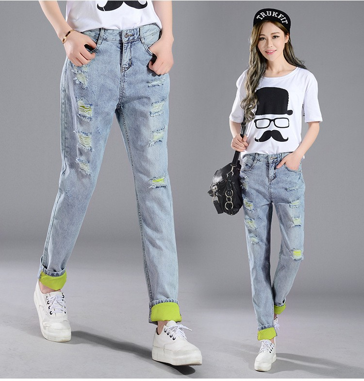 Women Classic Casual Wear Urban Star Cat Wax Jeans From China Alibaba