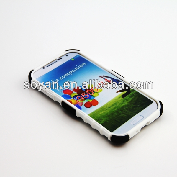 Mobile phone accessories in Shenzhen, 2 in 1 hybrid cases for Samsung Galaxy S4 i9400, Hybrid cases with stand function