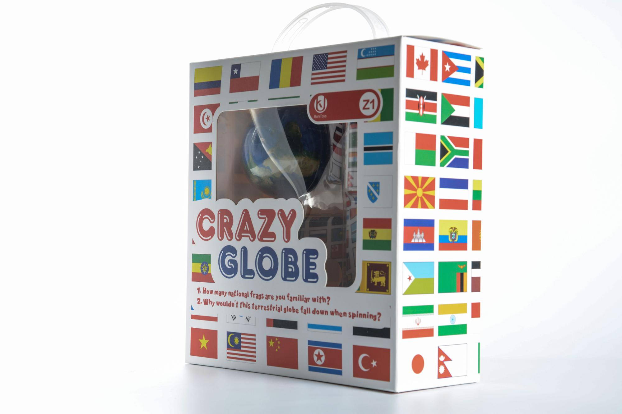 Bonitoys 2018 Newest Product Z1 Crazy Globe Creative Crazy rotation ball toys for kids