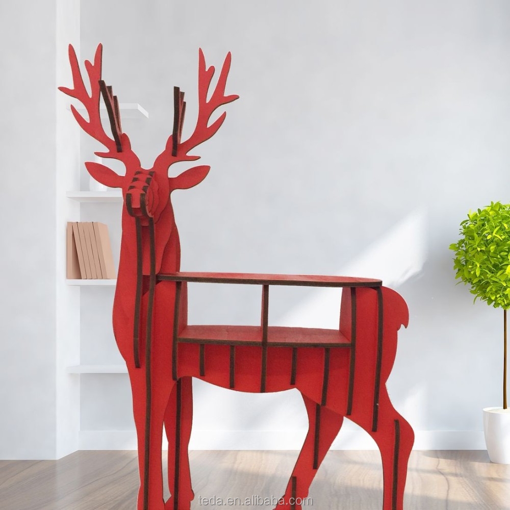 wholesale DIY wood carving craft decoration reindeer
