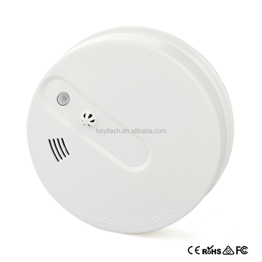 New Fire Warning Sensor Wireless 9V Battery Operated Smoke Heat Detector Sensor