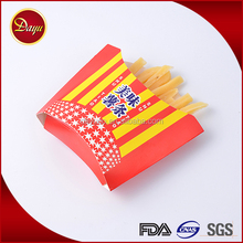 Top selling disposable paper snack french fries packaging box