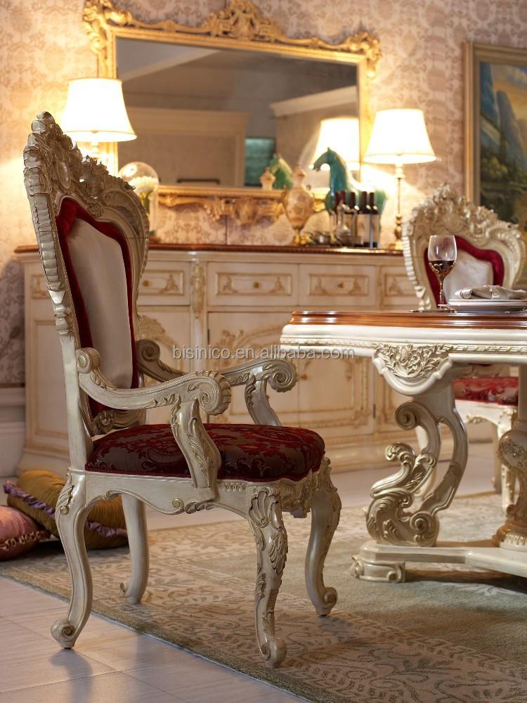 Bisini estilo italiano de lujo mesa de comedor real for Muebles estilo italiano