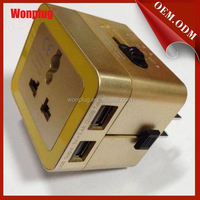 5% Discount Wholesale electronic travel adaptor with usb charger