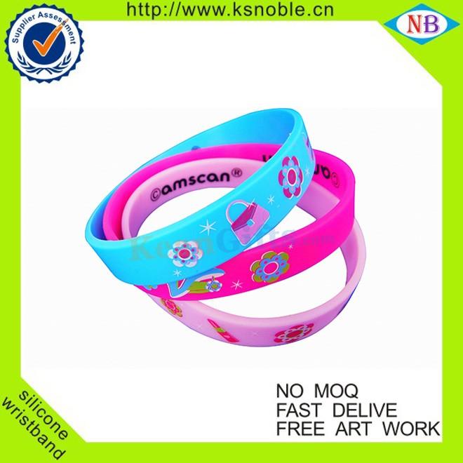 Approvisionnement écologique Personnalisé Divers personnalisé promotionnel de silicium bracelet