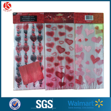 printed Radiant Hearts Valentine party Cellophane Bags