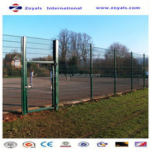 Manufacturer ISO9001 green pvc welded pipe frame fence