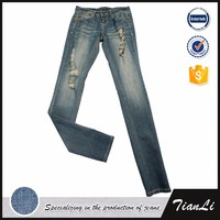 Spandex Spring Women New Pattern Jeans