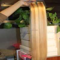 Quality ombre tape in extension invisible part wig remy human hair