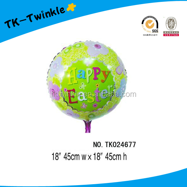 Easter decoration flowers printed helium foil balloons