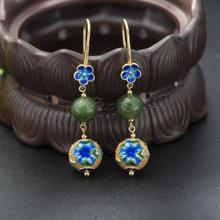fashion jewelry custom cloisonne earrings wholesale 1140716
