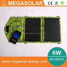 Mini Folding monocrystalline flexible thin film solar panel price 6w 5v China