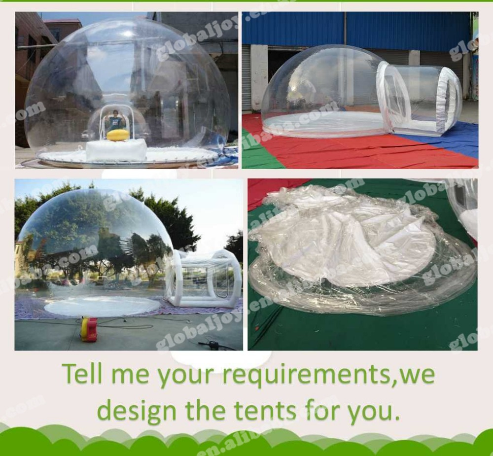 inflatable family bubble tent /outdoor transparent lawn tent/camping tent with children room