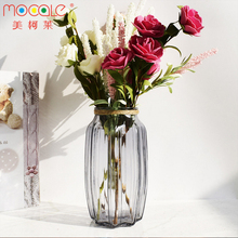 DAILY Colorful Hand Blown Cylinder Flower Glass Vase crystal glass flower vases for wedding table centerpieces