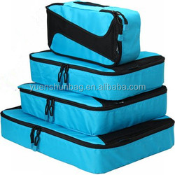 4 Set Packing Cubes - Travel Luggage Packing Organizers with Shoes Bag