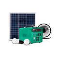 15w portable solar energy system charged by city eletrivity or solar panel