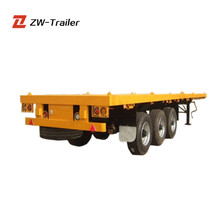 New and Used Tri-axle 40ft 20ft Container Transport Trailers Container flatbed semi trailer with container lock