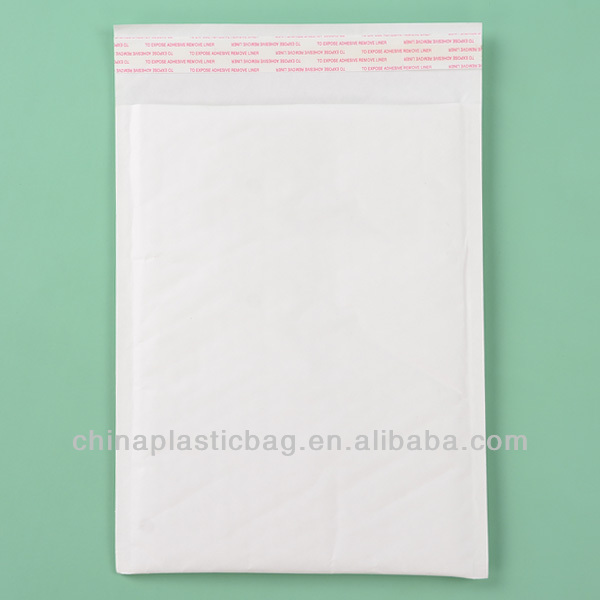 white strong cushioning kraft paper buble mailer bags