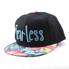 New letters embroidered fancy men's and women's floral <strong>flat</strong> eaves hip-hop dance caps wholesale