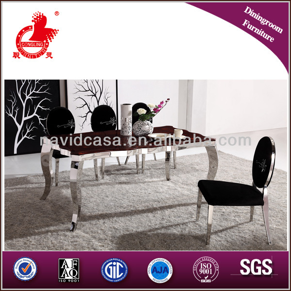 2014 new design dining room furniture A8027 marble top dining table