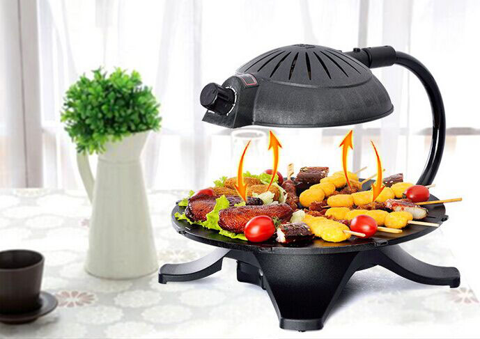 Tabletop Electric 3D Infrared BBQ Barbecue Grills With Korean And Japaness  Style For Energy Conservation And