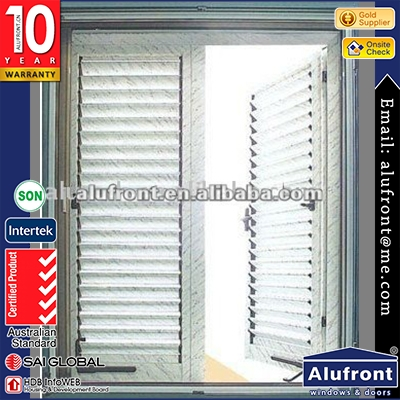 Powder Coating Aluminium Frame Openable Louver Windows And Doors