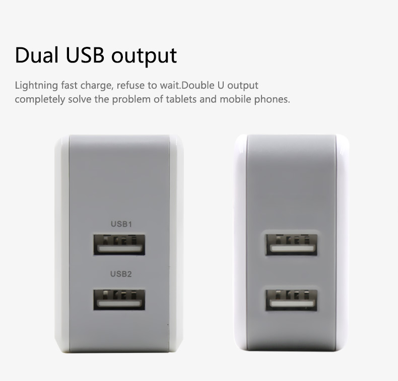 UL Approved Qualcomm Quick Charge 3.0 Wall USB Charger For Iphone