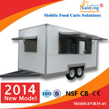 2014 China new stainless steel food van FVR35-45 with drag bar