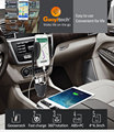 2017 new design for 4-6.3 inch smartphone holder universal car dual usb charger holder