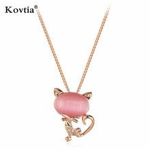 collares de moda pink opal necklace new style necklace gift jewelry necklace