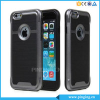 Durable Brushed Shockproof Armor Defender Case For Iphone 6, Mobile Phone Cover For Apple Iphone 6