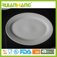 Oval white porcelain plate dinner hall plate wholesale