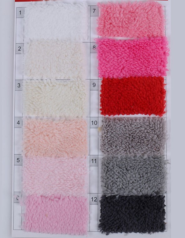 High Quality Wholesale 100% Polyester Sherpa Fleece Teddy Bear Fur Fabric For Garment Or Blanket