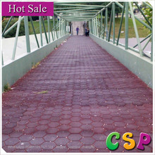 Anti-slip recycled elastic driveway rubber pavers/ driveway rubber floor