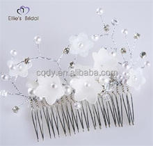 Wedding Hair Accessories Bridal Floral Hair Comb Headpieces Hair Jewelry Clear Rhinestone Crystal Comb