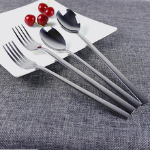 Mirror Polish Stainless Steel Long Handle Spoon and Fork set