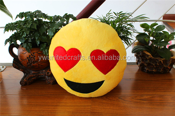 Emoji Pillow Christmas , New Hot Funny Soft Emoji Smiley Emoticon Cushion , Yellow Round Pillow Stuffed Plush Toy Doll