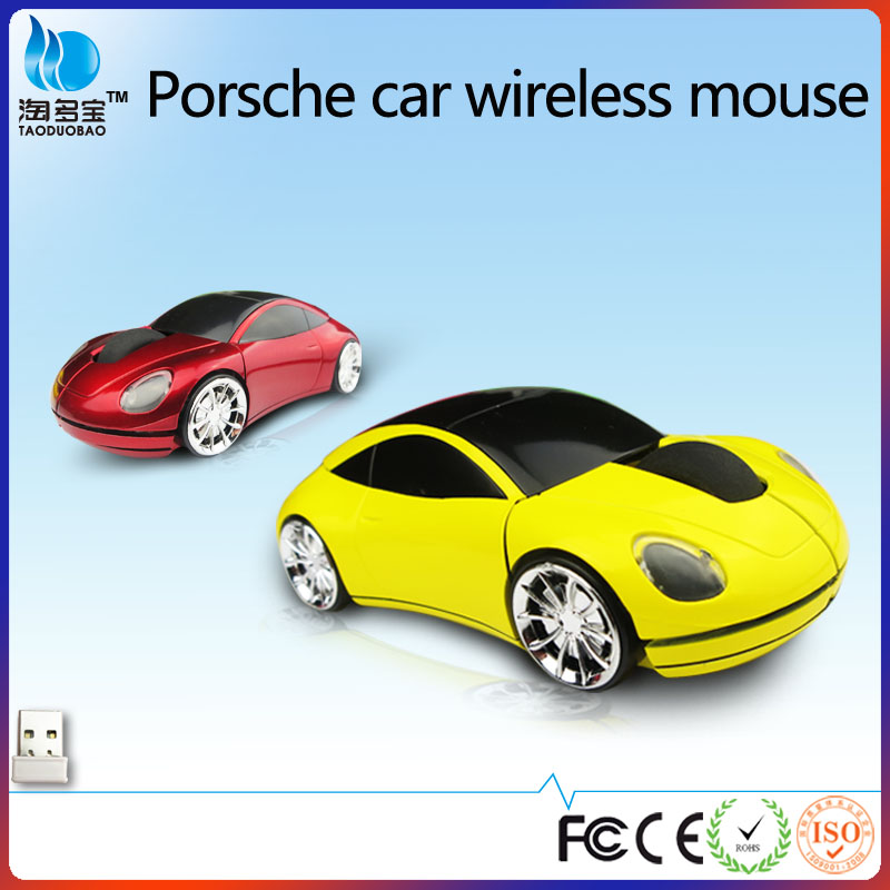 Cool 2.4 G car shaped wireless optical laptop usb mouse from ISO9001 factory
