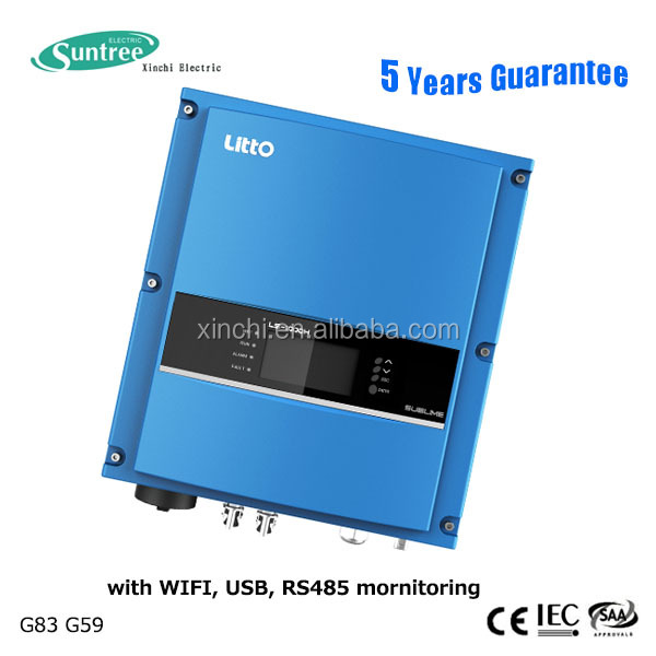 Solar grid tie inverter 1kw pure sine wave 220v with no fan low noise technique have WIFI USB
