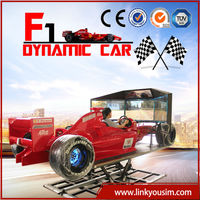 Amusement park equipment motion simulator with 360 degree rotation high precise motion, F1 car simulator games online