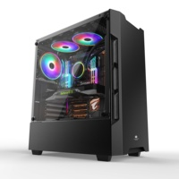Printing Black Panel Window Tempered Glass Sideboard case computer