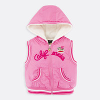 OEM Pretty Soft Comfortable 100&cotton Warm Sleeveless With Hood Baby Girl Clothes vest For Winter
