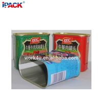 chicken luncheon meat Rectangular Food Can for canning meat