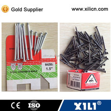 high quality hardened concrete steel nail size as requested